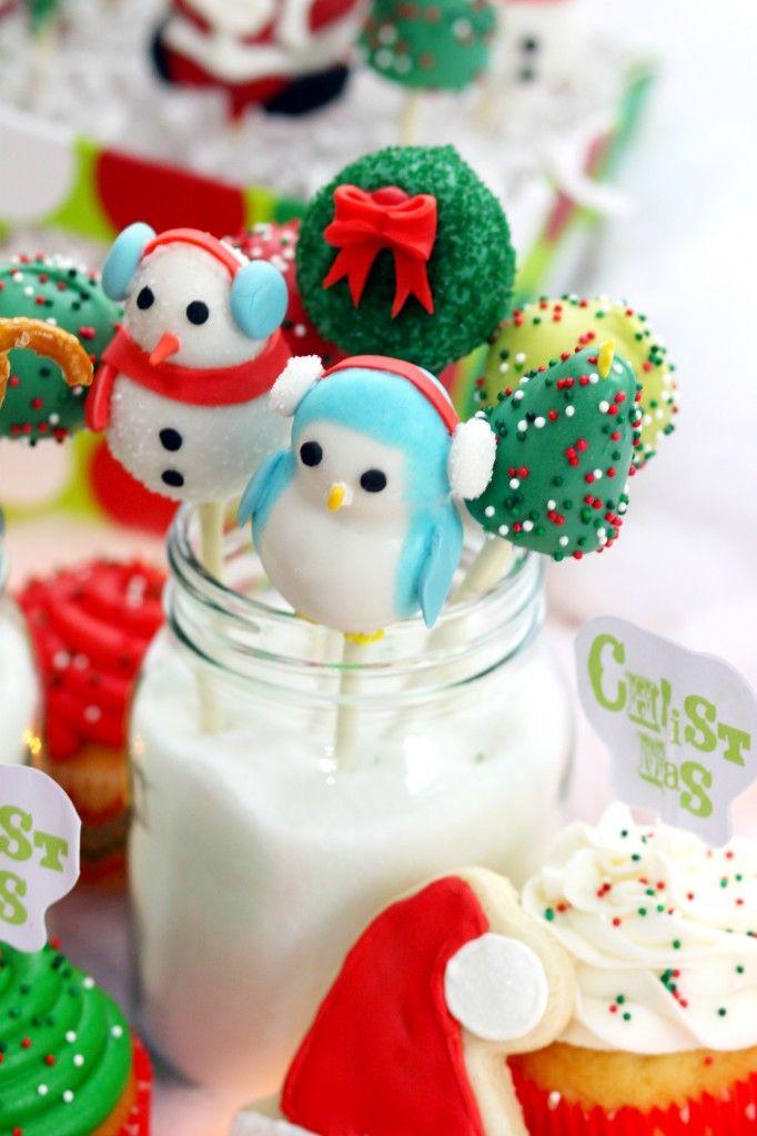 Christmas Cake Pop Ideas Pinterest : Christmas Cake Pops food and dessert ideas Pinterest