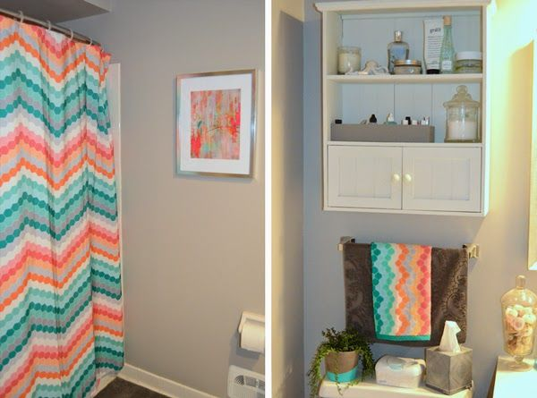 Bathroom Decor Colorful Chevron Patterns From Bathroom Bliss By