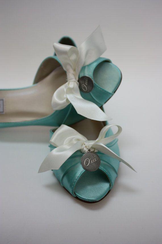 Tiffany Blue Wedding Shoes - Oui Charm Shoes - Tiffany Wedding Theme