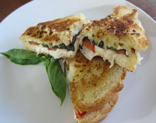 Fancy - Grilled Cheese Sandwiches, Margherita Grilled Cheese