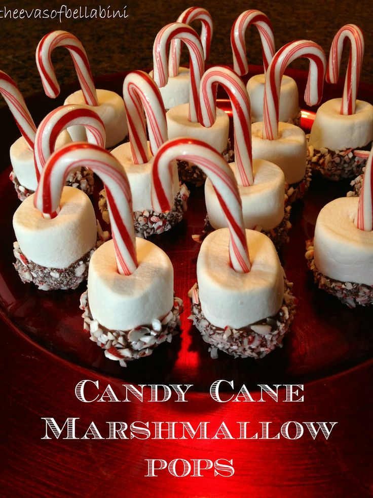 Candy Cane Marshmallow Pops: Stick a candycane into a large ...