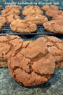 ... Molasses Crinkles (ginger crinkles?) gluten free, made with coconut