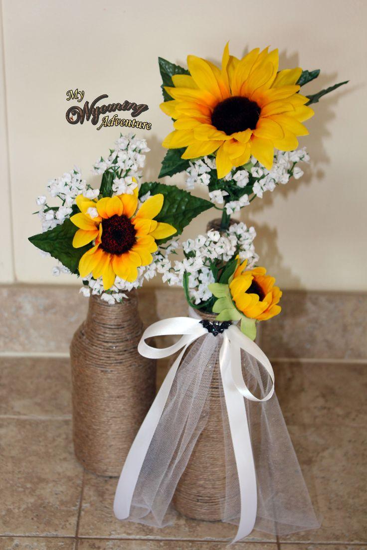 Sunflower centerpieces wedding ideas pinterest