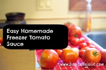 Easy Homemade Freezer Tomato Sauce | Recipes | Pinterest