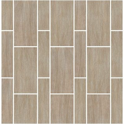 Staggered floor tile patterns