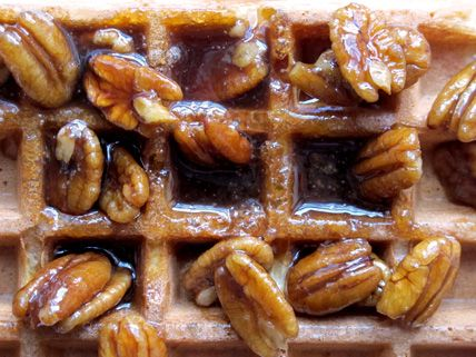 Pecan waffle topping. Roast pecans first. | Crazy About PECANS Nuts ...