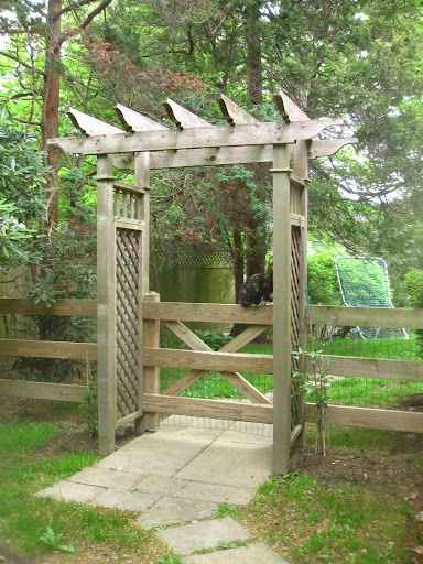 gate and arbor garden pinterest