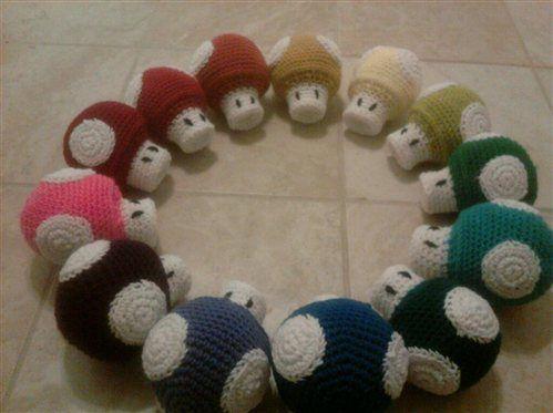 Free Amigurumi Mushroom Patterns : Mario Mushroom - Crochet Me Crochet Video Game Themed ...