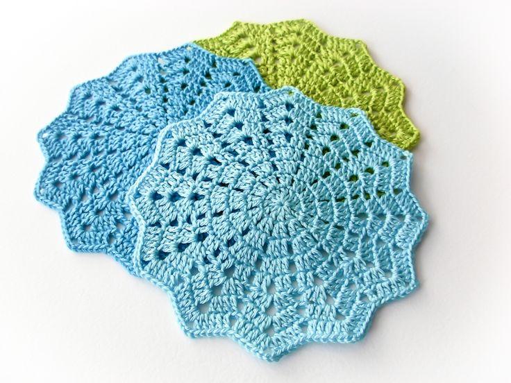 Free Crochet Pattern For Coaster : Crochet coaster + pattern. Free. Crochet Pinterest