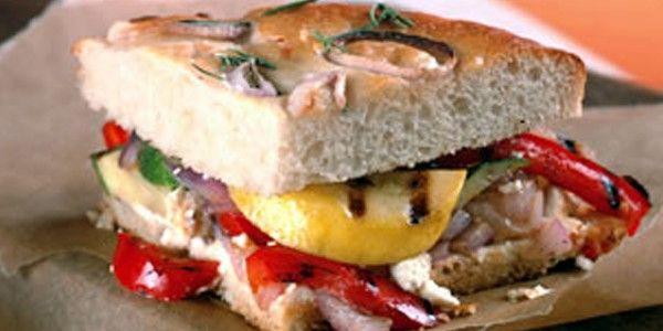 California Grilled Veggie Sandwich | Food! | Pinterest