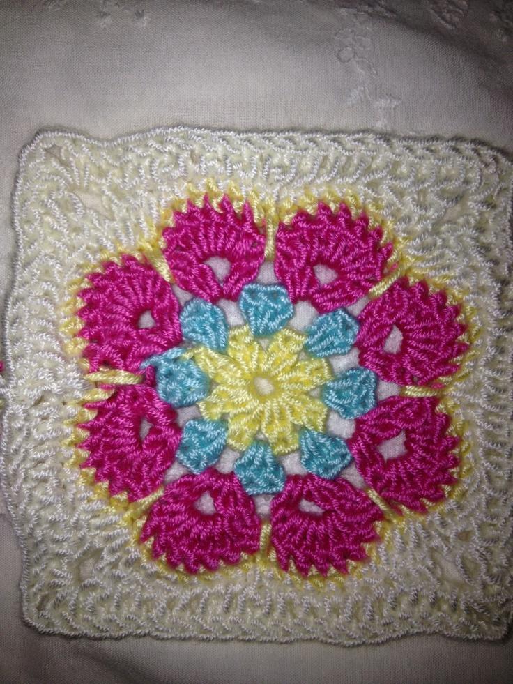 Crochet African Flower Pattern : African flower pattern Crochet Pinterest