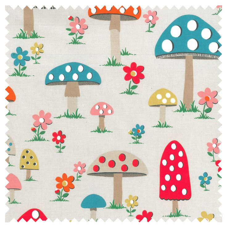 Cath Kidston Mushroom Cotton Duck ** | Products I Love | Pinterest
