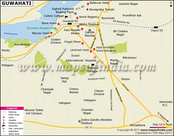 Guwahati India  City pictures : City Map of Guwahati | City Maps of India | Pinterest