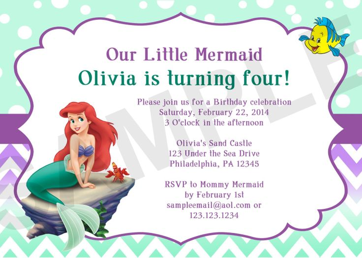 Mermaid Birthday Party Invitations as awesome invitation template