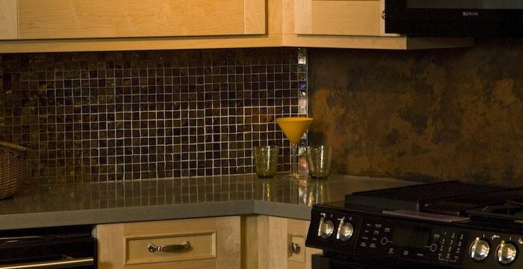 copper glass tile backsplash meet my designs pinterest