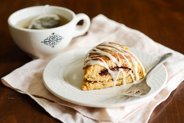Tasty Kitchen Blog: Pumpkin Cinnamon Roll Scones. Guest post by Erica ...