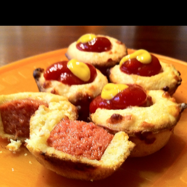 Corn Dog Muffin Bites Recipe — Dishmaps