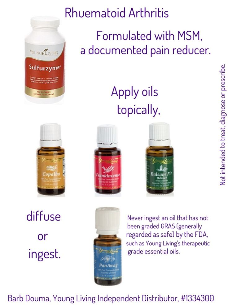 Arthritis Young Living Oil Young Living Essential Oils