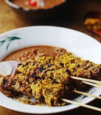 indonesian coconut beef satay recipe | Meal ideas | Pinterest
