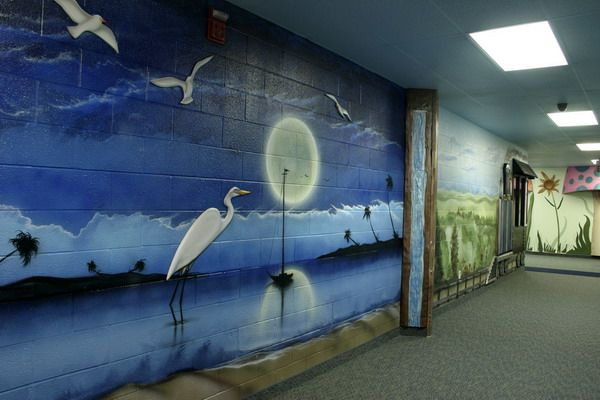 Nature Live Painting Wall Murals Ideas