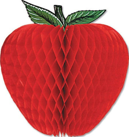 14 3d honeycomb tissue apple fruit themed party decoration for Apple fruit decoration