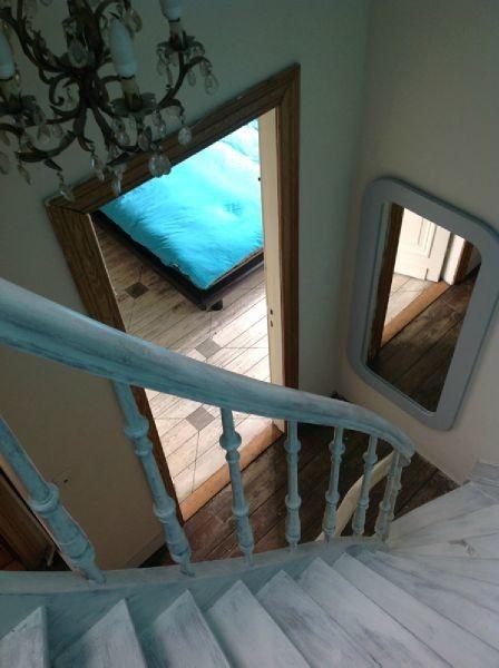 Opgeschuurde wit gepatineerde trap huis pinterest - Huis trap ...