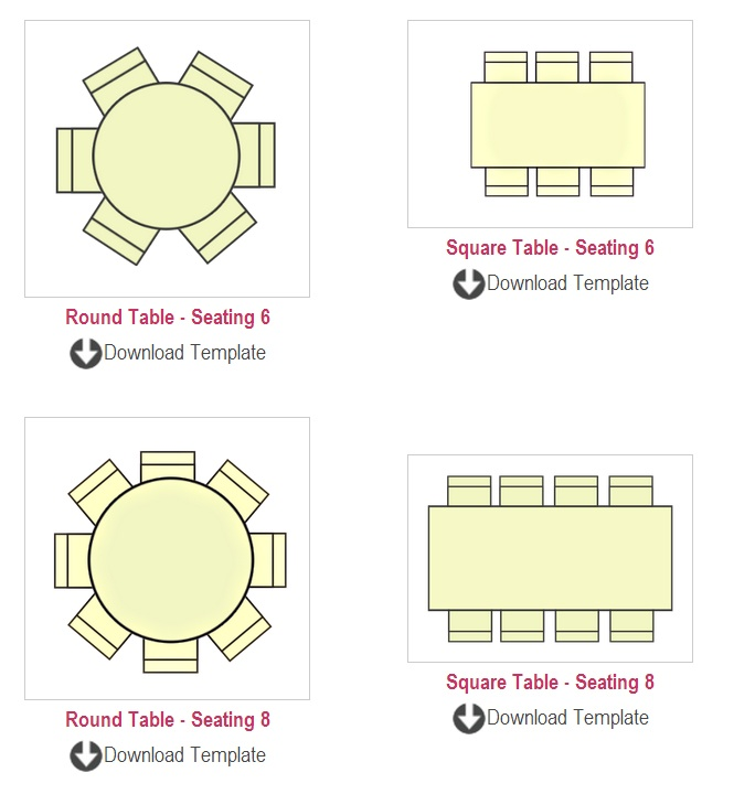 table seating chart template