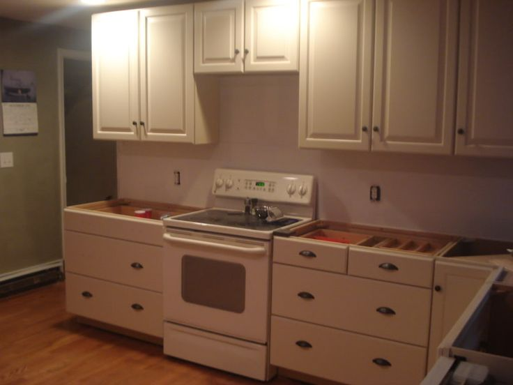Cream Cabinets Bisque Appliances Diy Home Improvements Pinterest