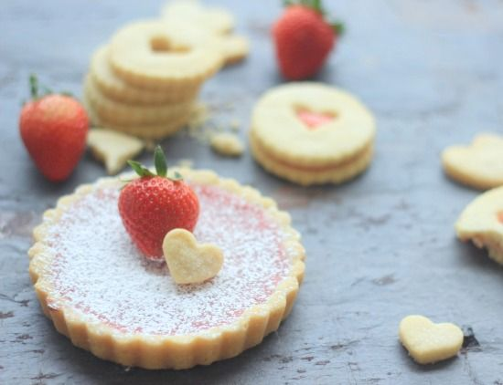 Strawberry Lemon Curd recipe, Shortbread Cookies or use cookie dough ...