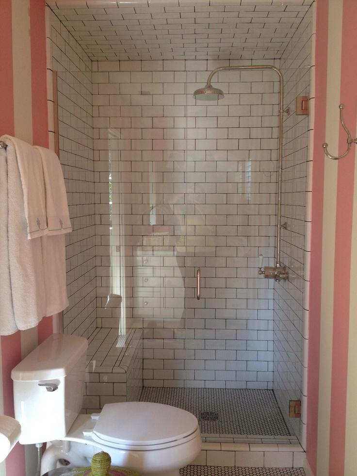 tiled shower bench wall tile shower pinterest