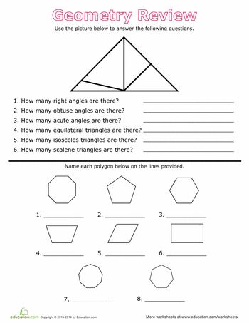 geometry review angles and polygons math geometry pinterest. Black Bedroom Furniture Sets. Home Design Ideas