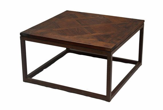 Wood And Metal Small Coffee Table From Terra Nova Designs