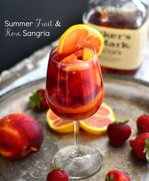 Perfect summer fruit and rose sangria | food: BEVERAGES - adult | Pin ...