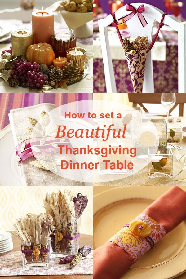 ... beautiful, affordable Thanksgiving table: Decor ideas and easy crafts