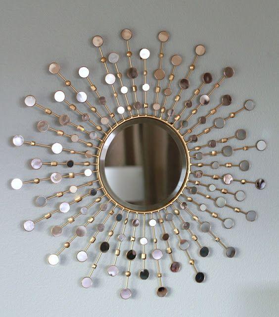 DIY sunburst mirror | Repurposed furniture | Pinterest