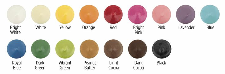 wilton candy melts color chart