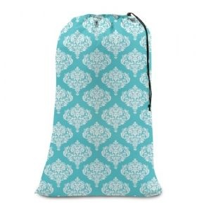 College Girl Laundry Bag - Turquoise DamaskCollege Girl Laundry Bag...