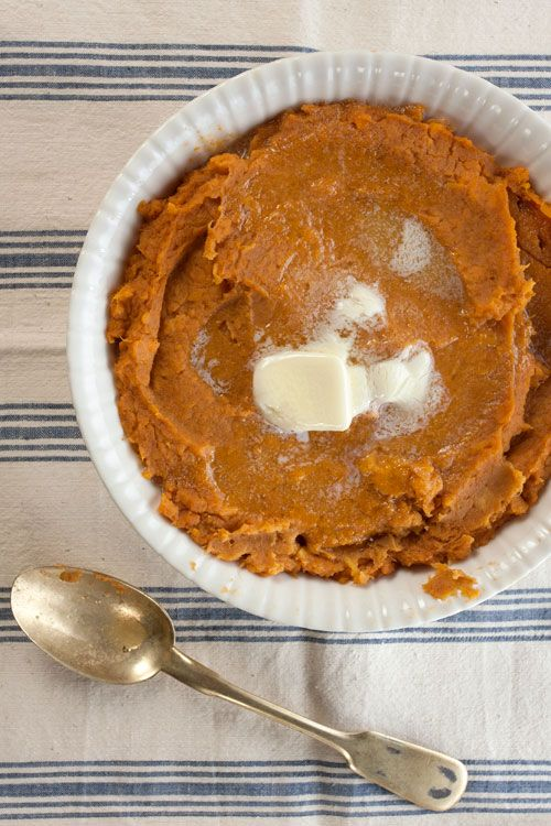 Maple Butter Mashed Sweet Potatoes The woody sweetness of maple syrup ...