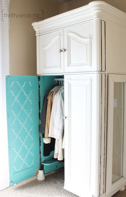 Innovative Wardrobe Makeover Into Computer Armoire Chalk Paint Craft Rooms