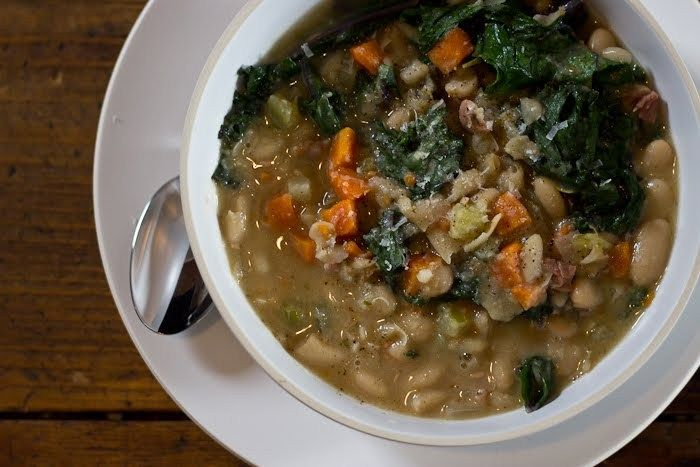 Tuscan White Bean Soup with Swiss Chard   recipes   Pinterest