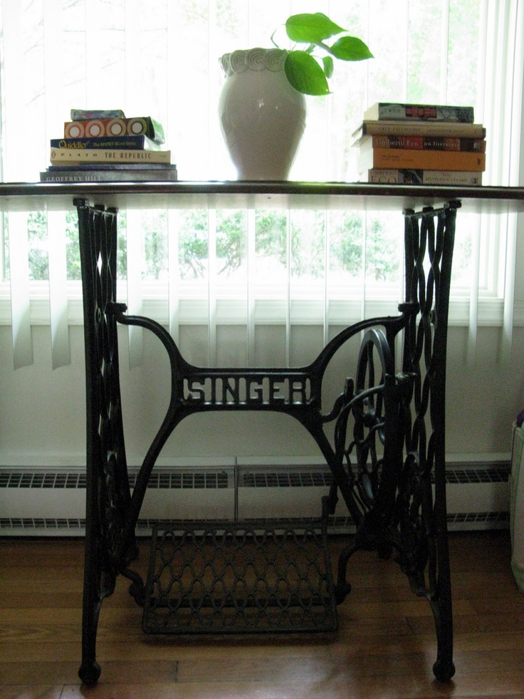 antique table singer sewing machine