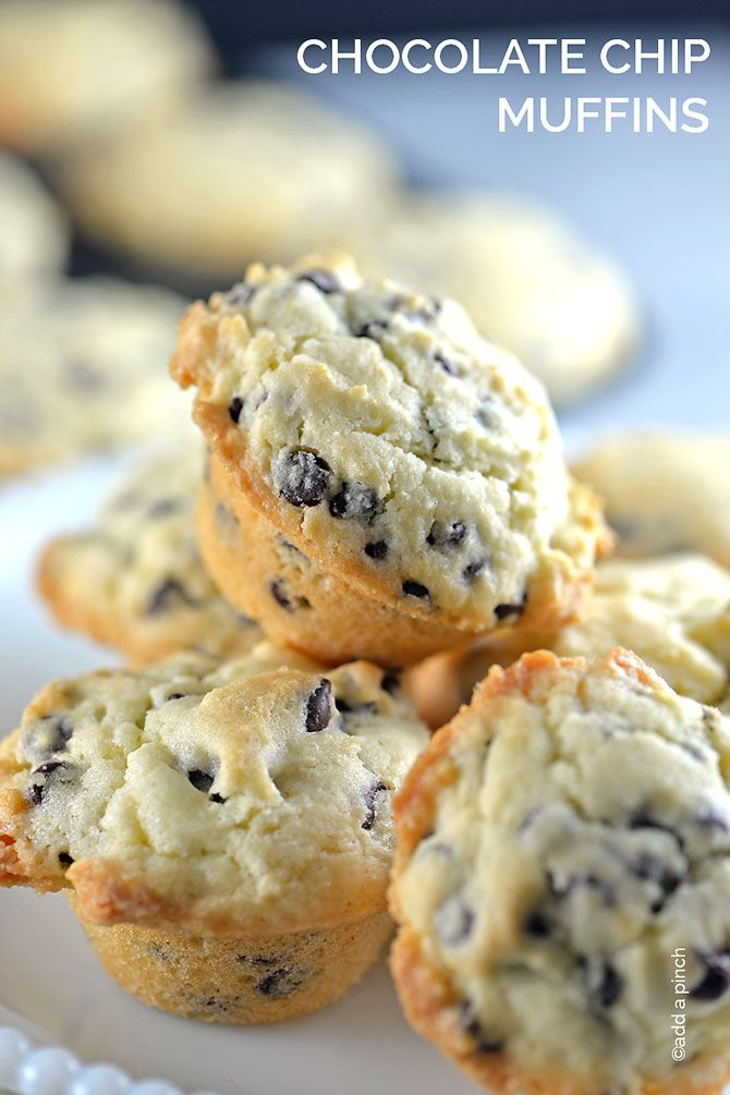 Chocolate Chip Muffins gives a nod to the classic cookie for breakfast ...