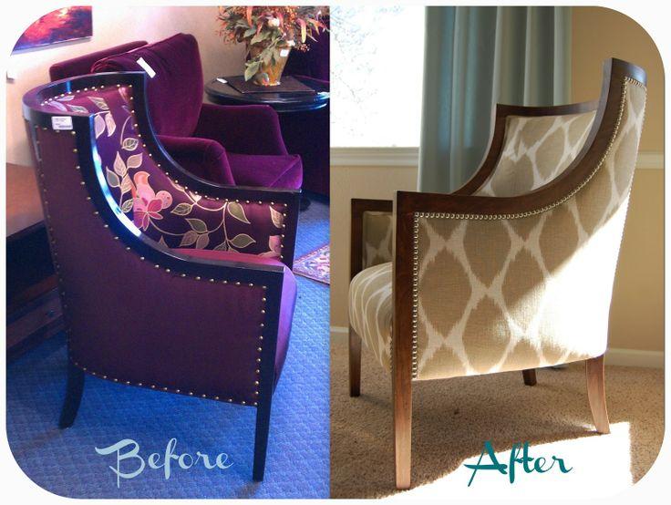 Reupholstering barrel chair diy homishness pinterest for Wine barrel chair diy