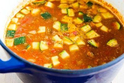 Kalyn's Kitchen®: Italian Sausage, Zucchini, and Macaroni Soup Recipe