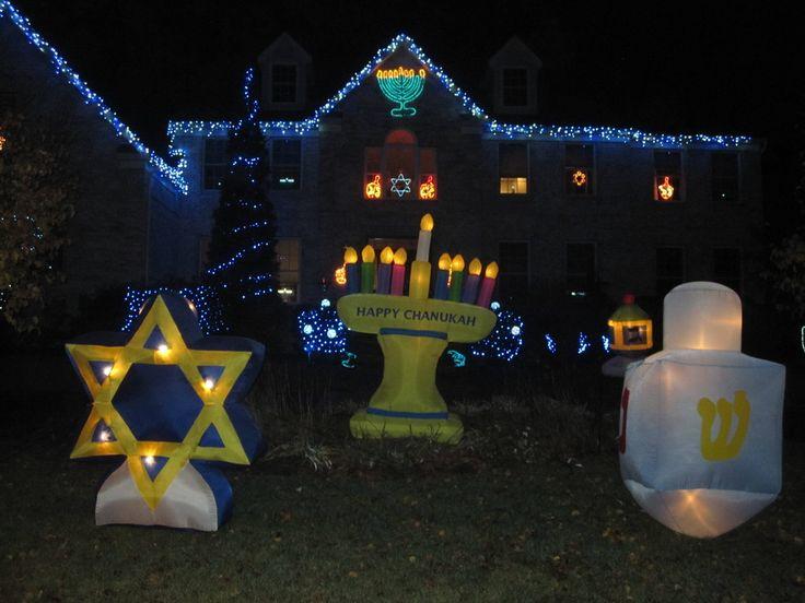 Outdoor hanukkah decorations holiday decor pinterest for Decoration hanouka