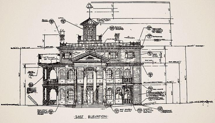 Disneyland Haunted Mansion Blueprints Random