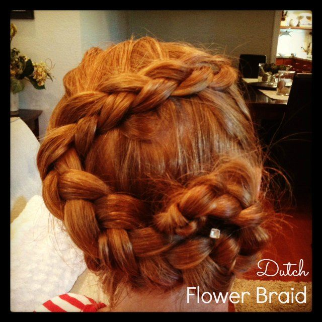Dutch Flower Braid {how to} http://pinterest.com/nfordzho/hair-style/