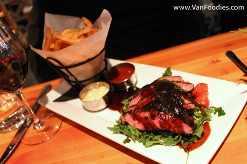 Heritage Angus Steak Frites at Edible Canada at the Market: 8oz sous ...