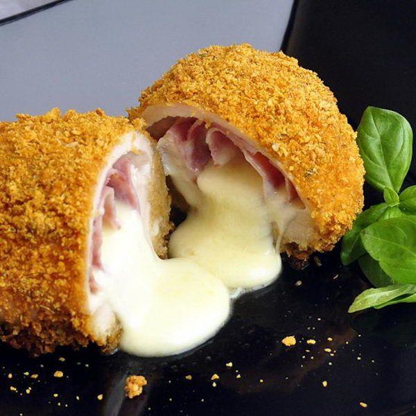 Stuffed Chicken Breasts Cordon Bleu Recipe — Dishmaps