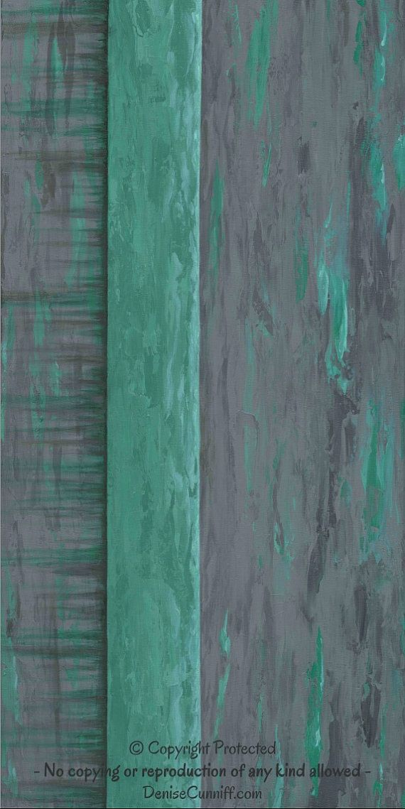 Teal Green Wall Decor : Large wall art teal green and grey abstract painting